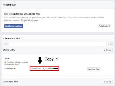 cara ambil kode iklan instant article by wordpress