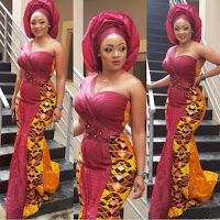 Ankara gown for ladies