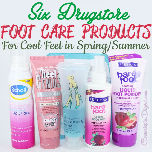 Six cooling drugstore foot treatments for Spring/Summer