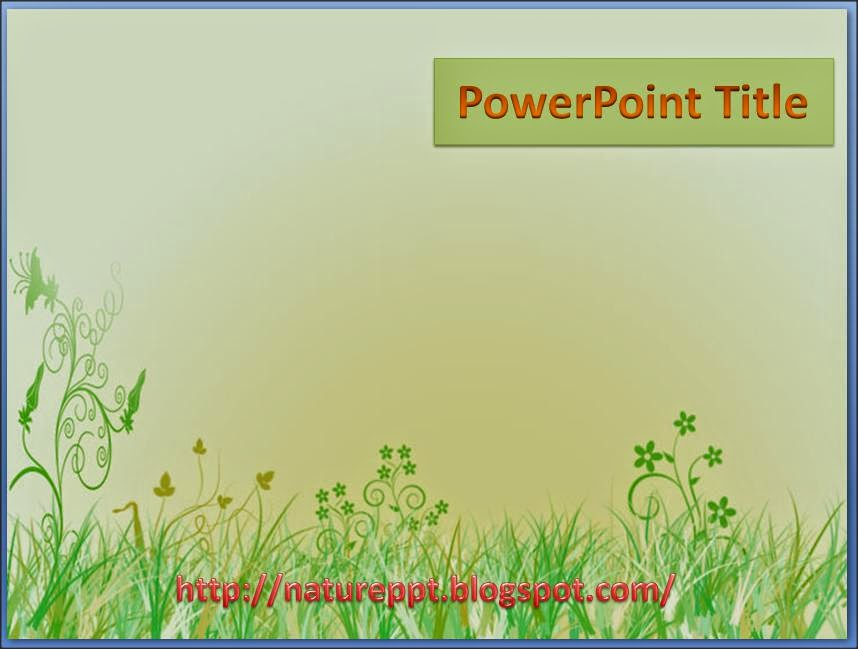 3 free nature powerpoint design template ppt background