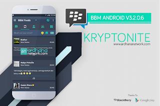 BBM Mod Kryptonite Apk Free Download Feature Bisa Ganti Background