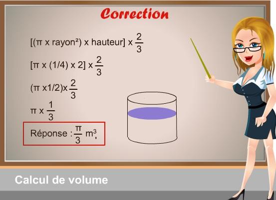 qcm concours gratuits 32 math matique correction calcul d 39 un volume. Black Bedroom Furniture Sets. Home Design Ideas