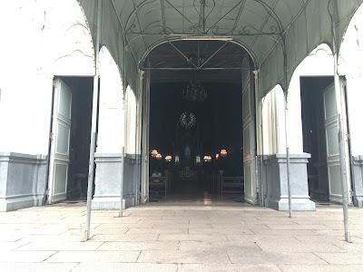 San Sebastian Church entrance