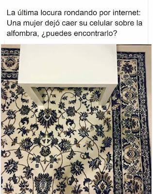 Encuentra el celular en la alfombra de flores