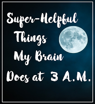 Am I the only one whose brain starts thinking of the most stressful things possible when I'm trying to relax and go back to sleep?  {posted @ Unremarkable Files}