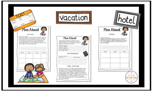Make this the best end of year activity yet with this PBL writing unit where your 3rd, 4th, 5th, 6th, 7th, or 8th grade classroom or home school students plan a fantasy vacation for their family. Your students will work on research, math, and writing skills while engaging in this fun project based learning unit. See the five portions of this resource that will have your students learning and engaged from the first moment. {third, fourth, fifth, sixth, seventh, eighth graders}