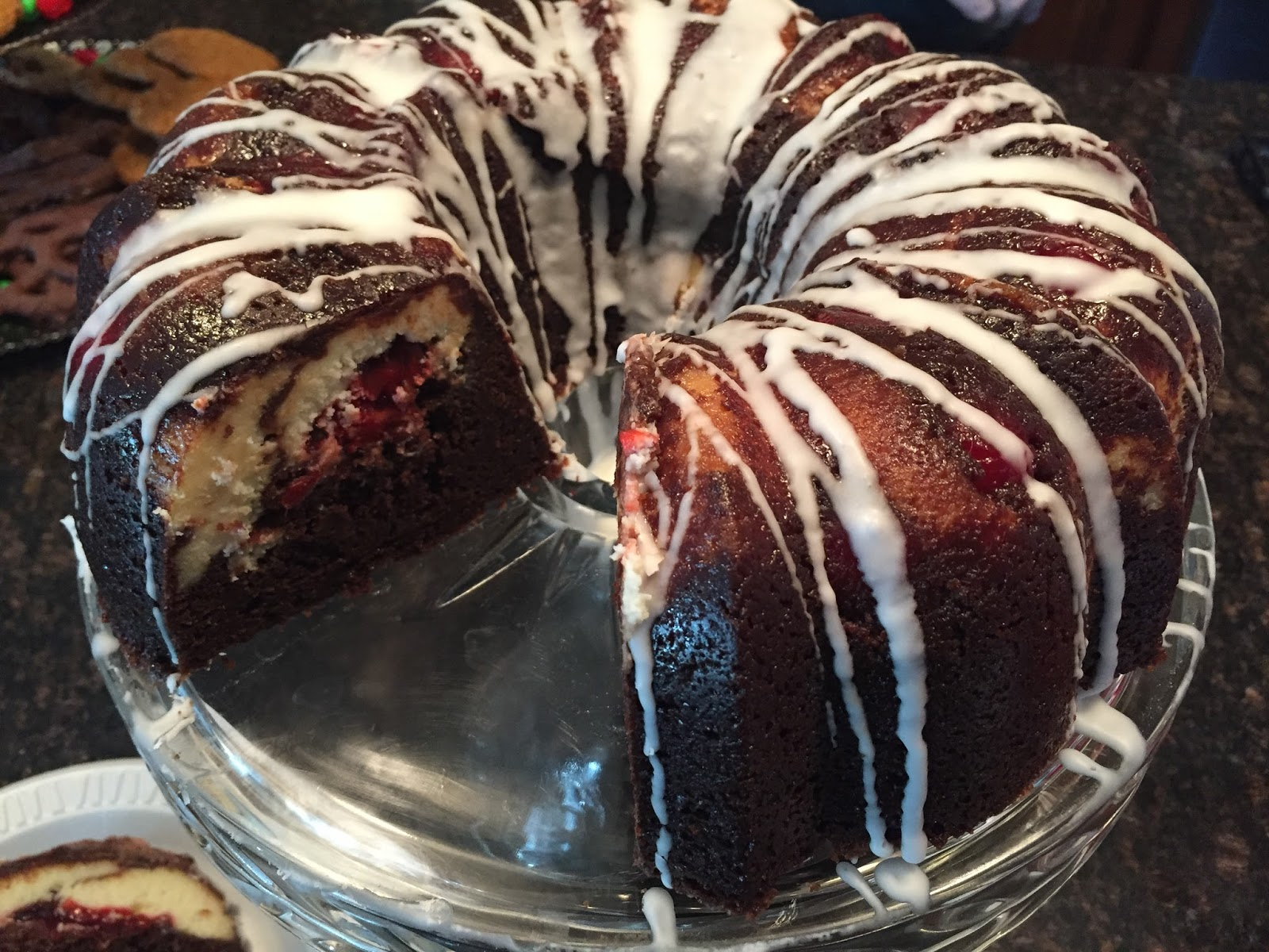 Cooking With Joey Cherry Cheesecake Chocolate Bundt Cake