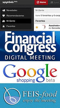 24 Symbols, FeisFood, Financial Congress y Google Shopping
