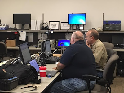 ARES team in the State EOC