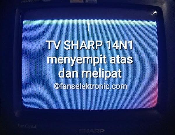 TV Sharp 14N1 Gambar Menyempit Melipat Bagian Atas