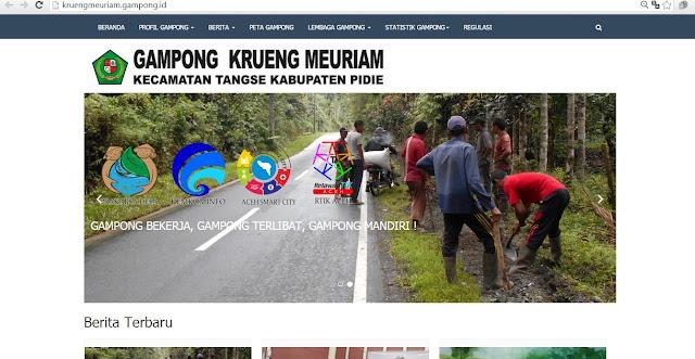 Sistem Informasi Gampong dan Kawasan Krueng Meuriam Tangse