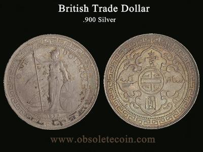 British Trade Dollar Coins Price Obsolete Coin
