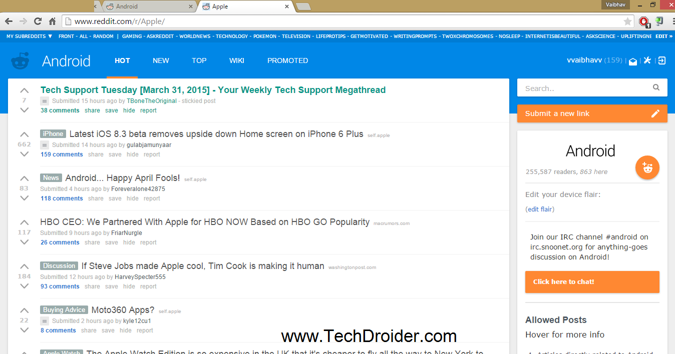 Reddit april fool prank Android apple