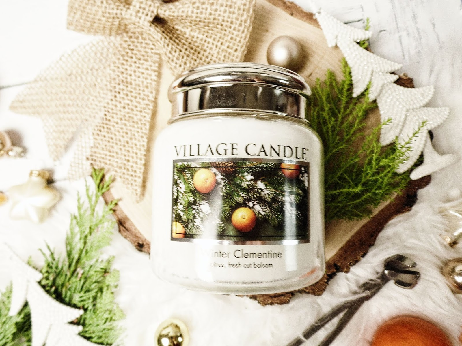 winter clementine village candle zapachy zimowe