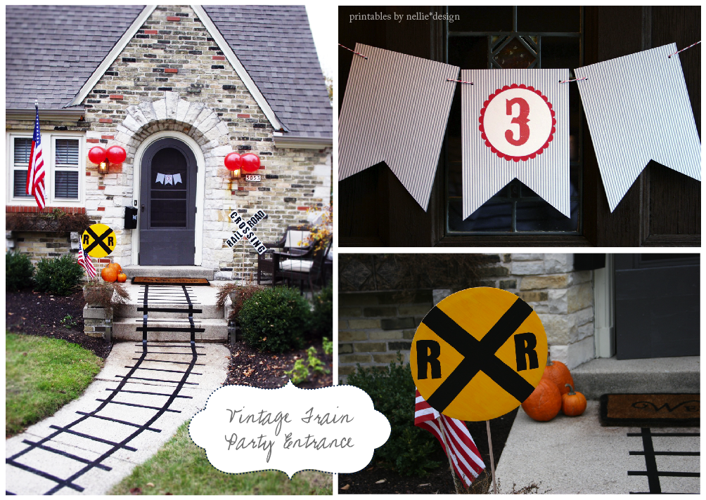 photo regarding Railroad Crossing Sign Printable identify Nellie Structure: Fridays with Fin :: Basic Teach Birthday Social gathering
