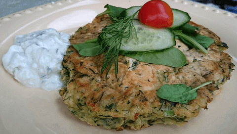Zucchini and Dill Fritter