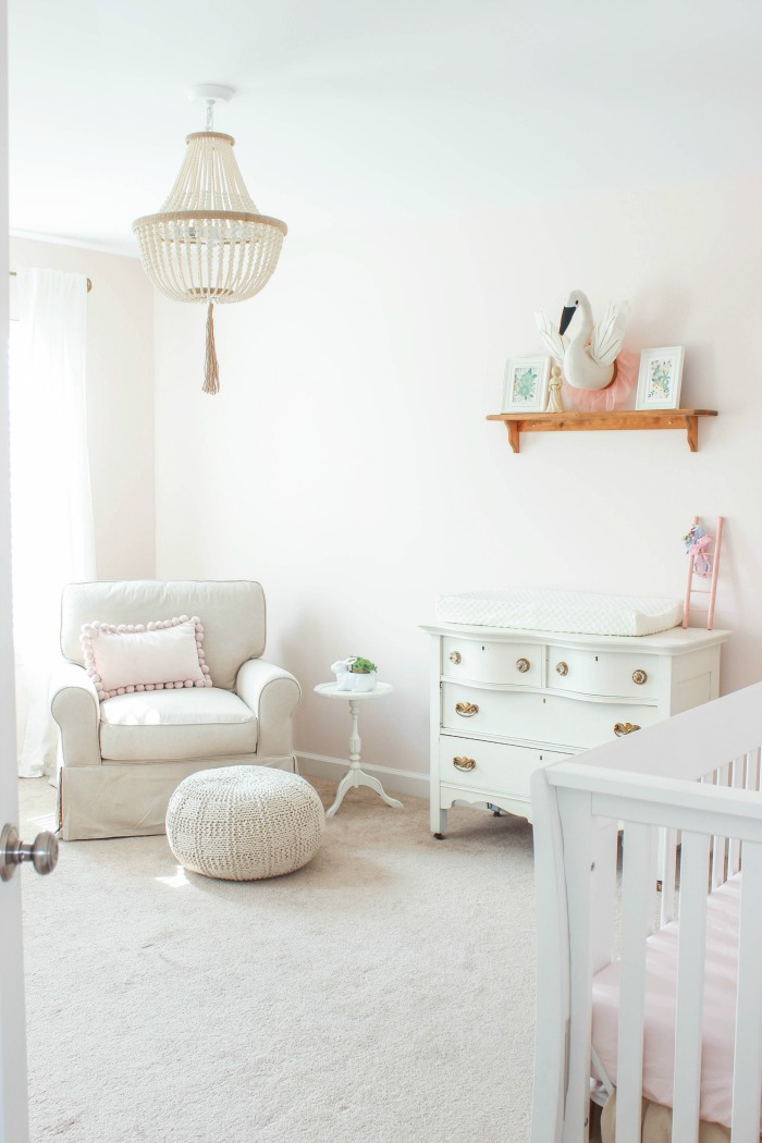 blush pink paint color for girl nursery
