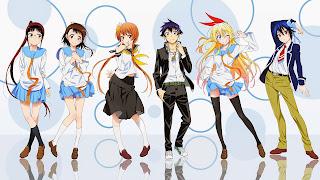 Tapeta Full HD z bohaterem i bohaterkami Nisekoi