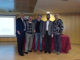 Ο Δ. Κωνσταντάρας, ο Ν. Καρύδης, ο Μιχάλης Άνθης, ο Σ. Κανάκης και ο Β. Αυγουλάς