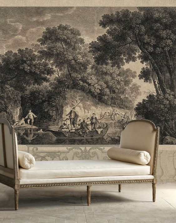 French chinoiserie and how to add chinoiserie decor to for Wallpaper decor for sale