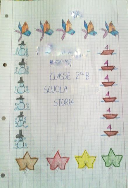 La scuola in cartella intestazione quaderni care e - Carino facile colorare le pagine ...