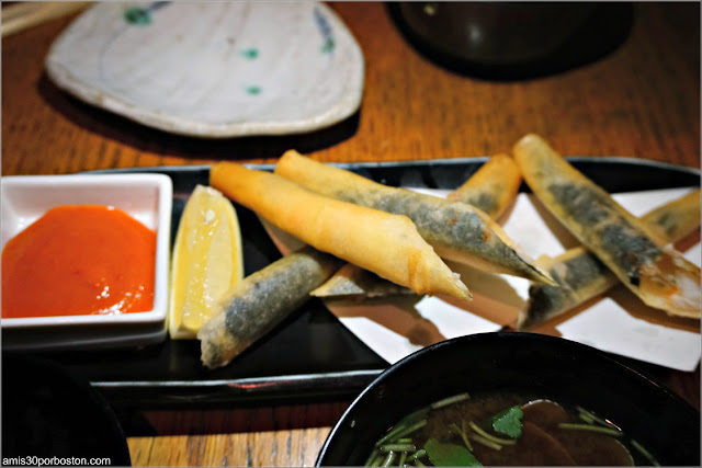 Ebi Stick en el Restaurante Japonés Sakagura de Nueva York
