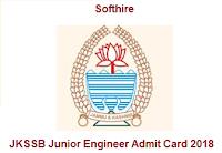 JKSSB Junior Engineer Admit Card