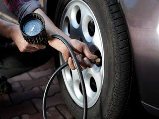 imagem calibar os pneus do carro
