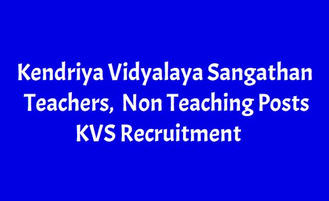 KVS Teachers Recruitment