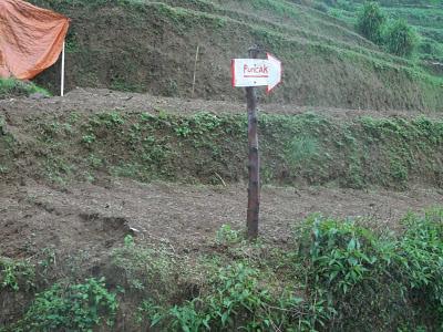 plang jalur pendakian, gunung prahu, patak banteng