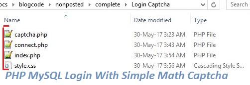 PHP MySQL Login System with Captcha