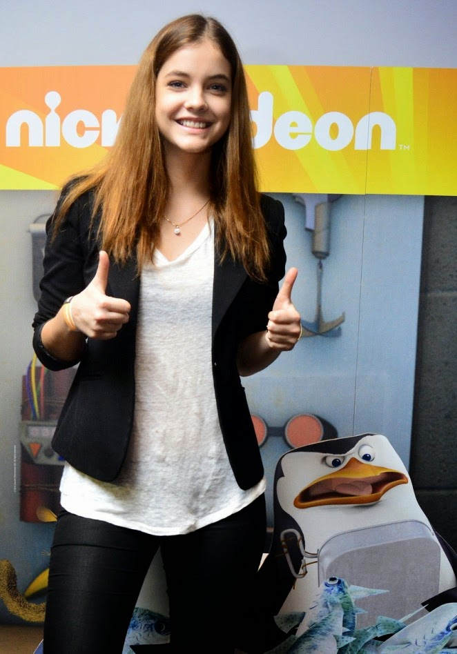 Barbara Palvin at the 'Penguins of Madagascar' premiere in Budapest