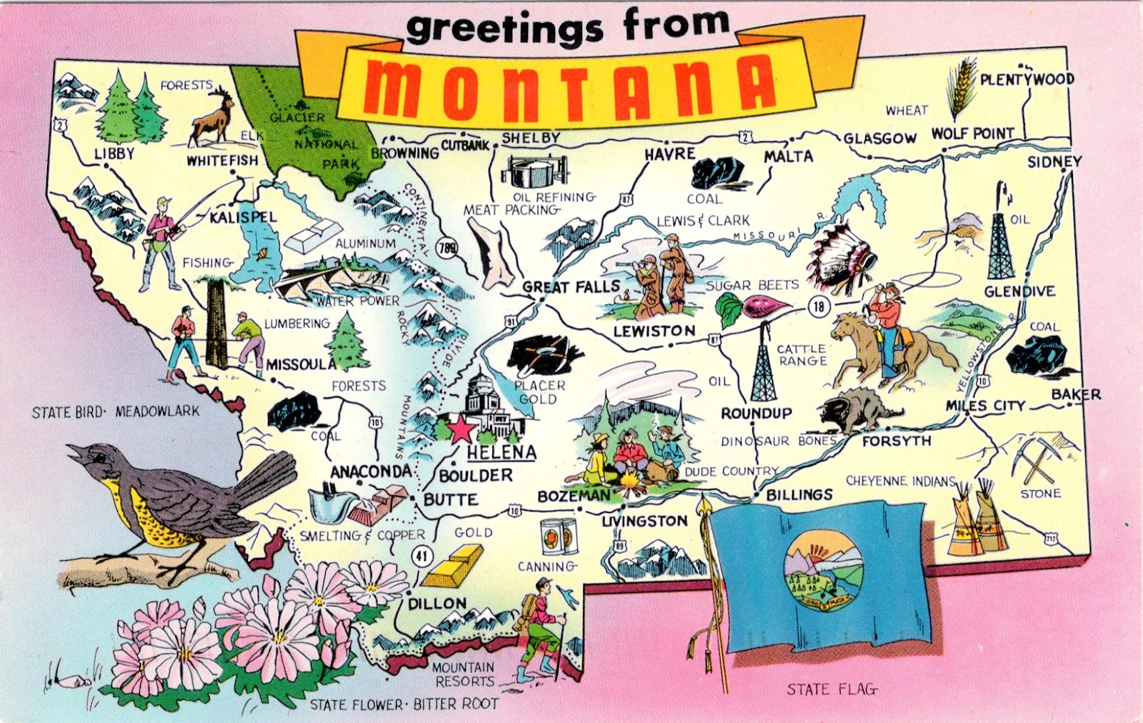 Montana Ipl Stately Knowledge Facts About The United States - Montana us map