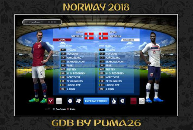 Norway 2018 Kit PES 2013