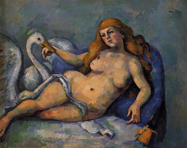Cezanne pintó también una versión moderna del mito de Leda y el Cisne