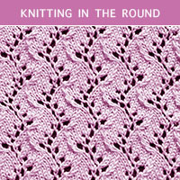 Eyelet Lace 34 - Knitting in the round