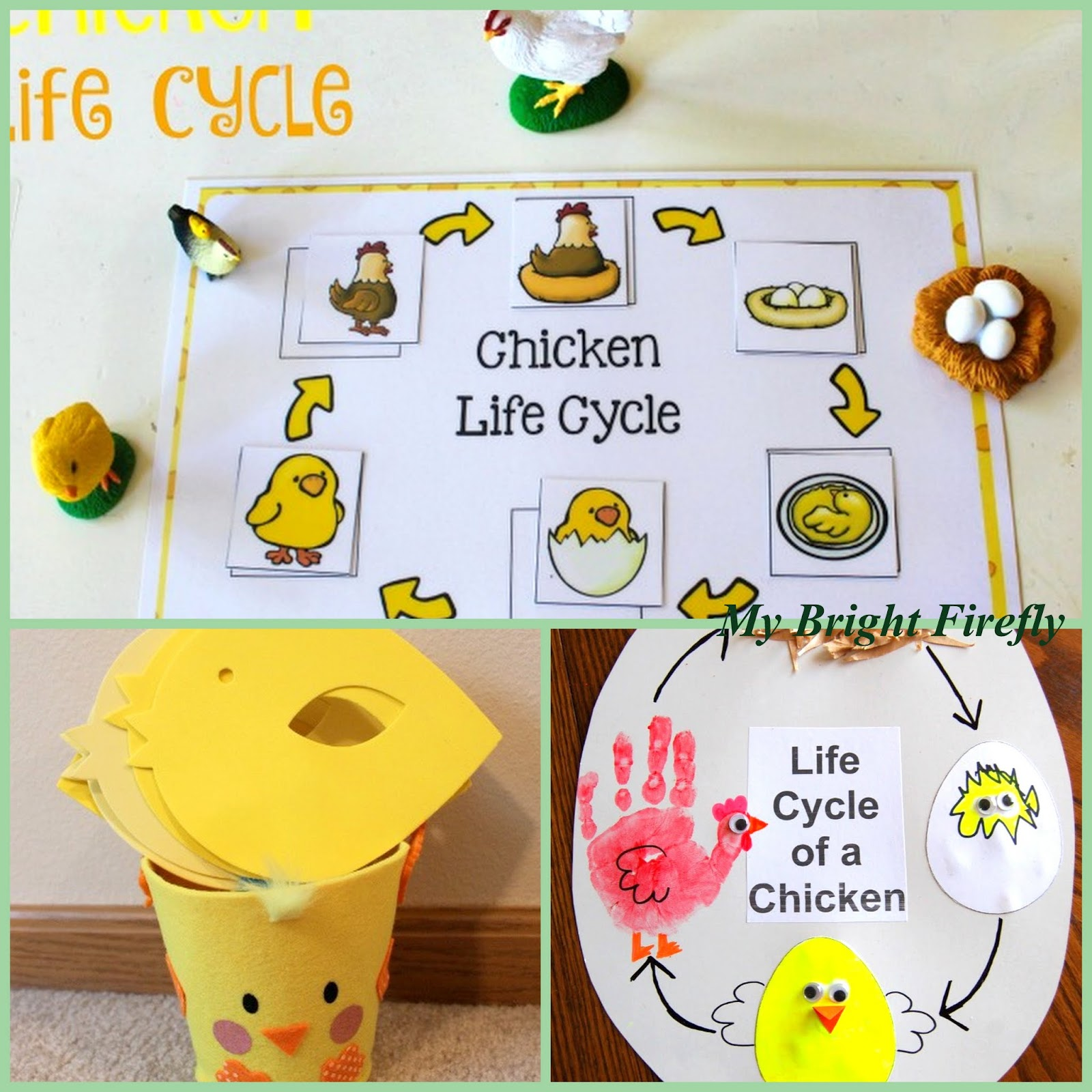 My Bright Firefly Happy Chicks On Grass Preschool Art Collaborative Project Decorating With