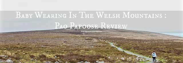 baby wearing in the Welsh mountains - a review of Pao Papoose baby carrier by We Made Me