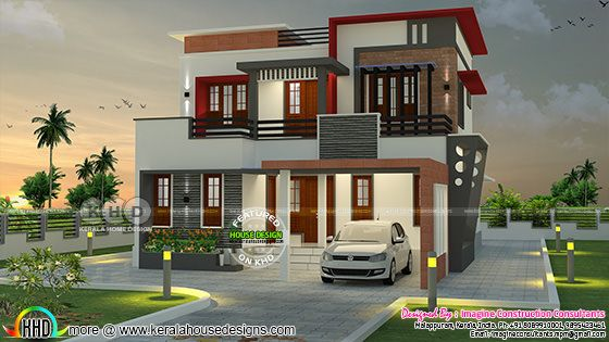 1900 square feet 4 BHK contemporary home