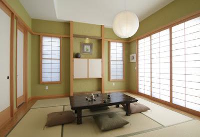 Ruang tamu ala jepang