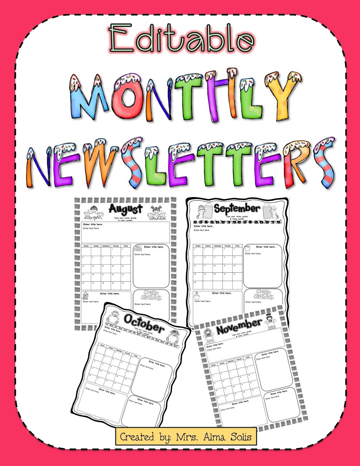 Classroom newsletter template free classroom newsletter. Fastest August Newsletter Template
