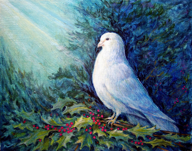 Eugene . Mcnerney' Paintings Day Christmas Dove