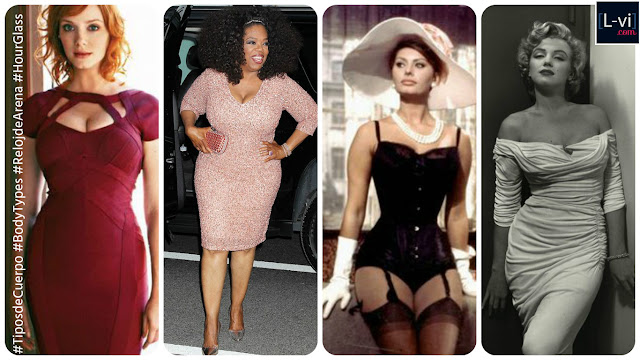 Celebridades con cuerpo de Reloj de Arena/ Celebrities with Hourglass body shape  L-vi.com
