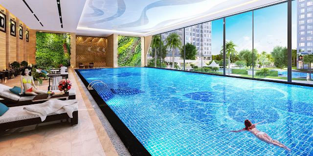 Bể bơi trong nhà chung cư King Palace