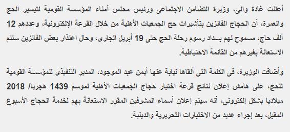 بالفيديو إعلان نتيجة قرعة حج الجمعيات الأهلية إلكترونيا واختارت 12 ألف حاج للعام 2018
