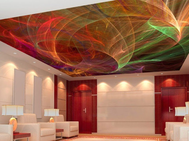 awesome stretch ceiling for living room design