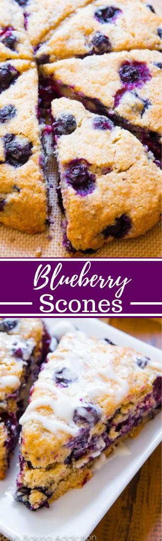 My Favorite Blueberry Scones #dessert #cookies