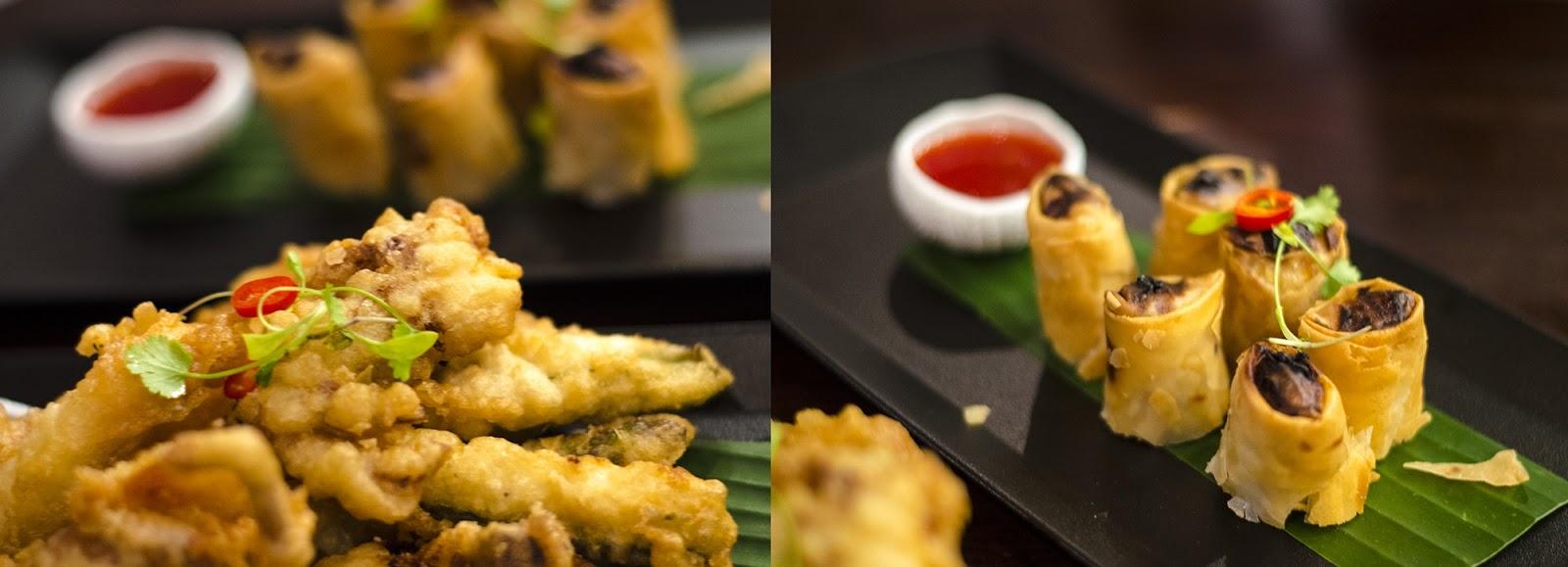 Chaophraya Menu Review: soft shell crab and squid tempura