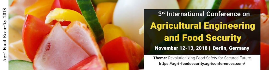 3rdInternational Conference On Agricultural Engineering and Food Security