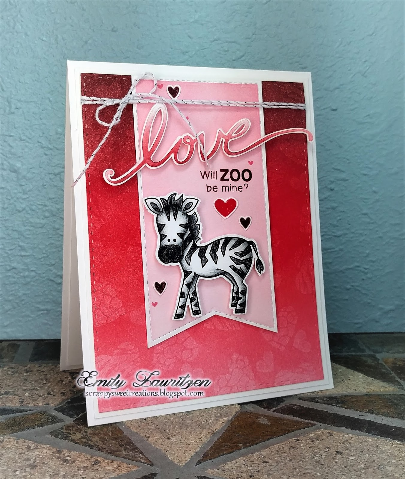 Zebra Card by February Guest Designer Emily Lauritzen | Wild about Zoo stamp set by Newton's Nook Designs #newtonsnook
